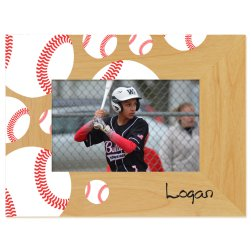Baseball Printed Picture Frame