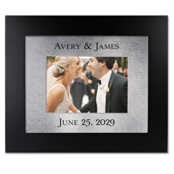 Personalized Mat with Solid Wood Picture Frame