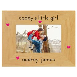 Daddys Little Girl Printed Picture Frame