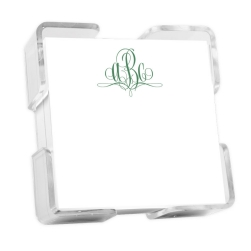 Delavan Monogram Petite Square - White with holder