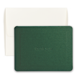 Green Thank You Note - Double Thick