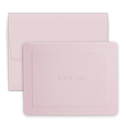 Pink Thank You Note - Triple Thick