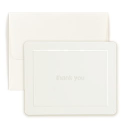Ivory Thank You Note - Triple Thick