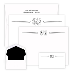 Classic Monogram Trio Wardrobe - Raised Ink