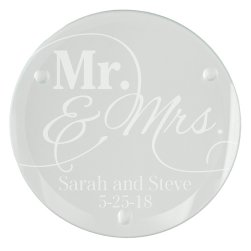 Mr and Mrs Glass Coaster