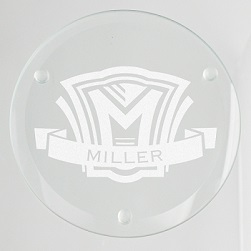 Shield Glass Coaster