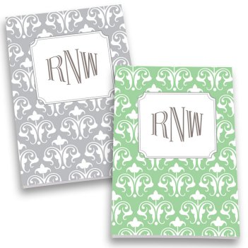 Fleur de Lis Monogram Personalized Journal Set