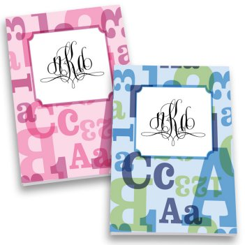 ABC123 Monogram Personalized Journal Set