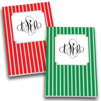 Pinstripes Monogram Personalized Journal Set