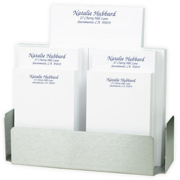 Distinctive 7-Tablet Set - White with Steel holder