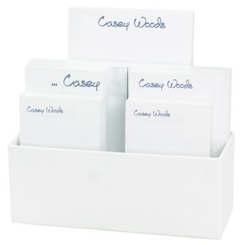 Anthony 7-Tablet Set - White with Linen holder