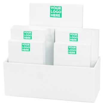 Your Logo 7-Tablet Set - White with Linen holder