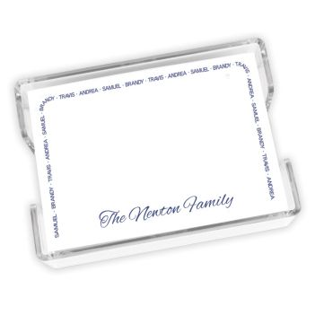 Family Arch Agenda - White with holder