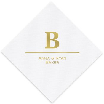 Initial and Name Luxury AirLaid Napkin - Foil-Pressed