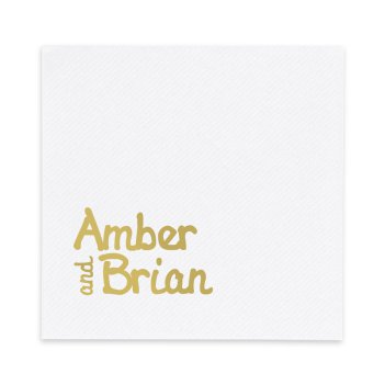 Luxe AirLaid Napkin - Foil-Pressed