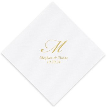 Serenity Luxury AirLaid Napkin - Foil-Pressed