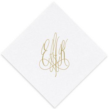 Roberta Monogram Luxury AirLaid Napkin - Foil-Pressed