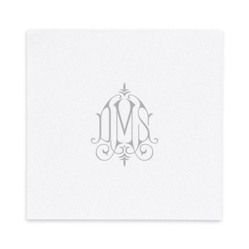 Whitlock Monogram Luxury AirLaid Napkin - Foil-Pressed