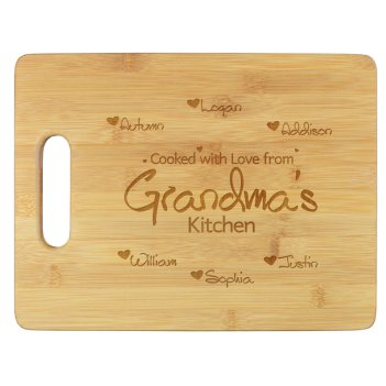 Cooked With Love Cutting Board - Engraved