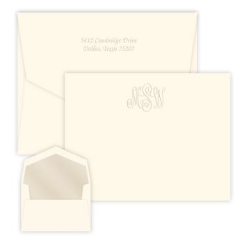 Classic Monogram Card - Embossed