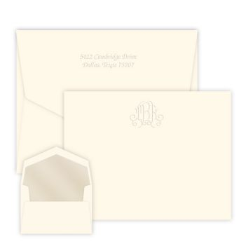 Victoria Monogram Card - Embossed