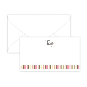 Kelly Stripes Enclosure Card - Digital Print