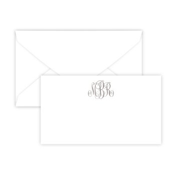Henley Monogram Enclosure Card - Raised Print
