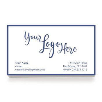 Your Logo Custom Business Card - Raised Ink