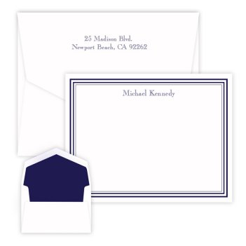 Colonial Card - Raised Ink