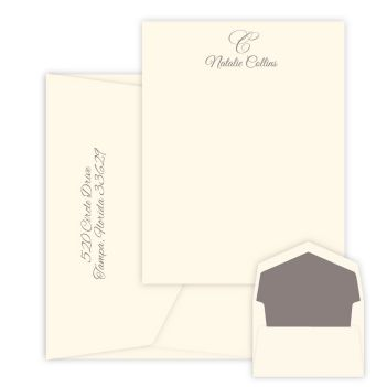 Waterton Card - Raised Ink