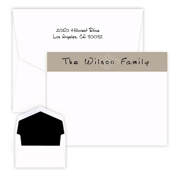 Brown Scroll Delicate Card - Raised Ink