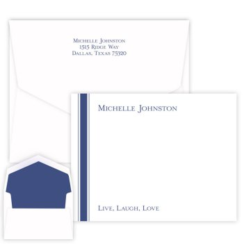 Stately Striped Card - Raised Ink