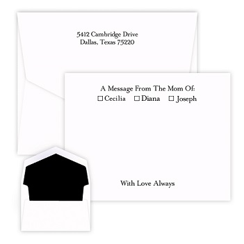 Motherly Message Card - Raised Ink