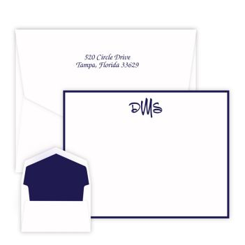 Wheaton Monogram Card - Raised Ink