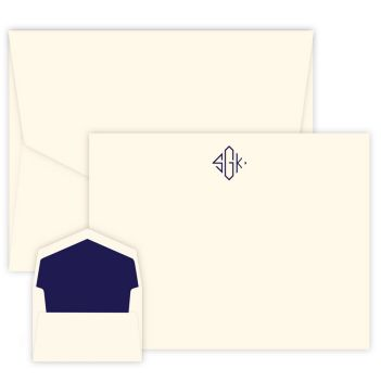 Delavan Monogram Apex Card - Raised Ink