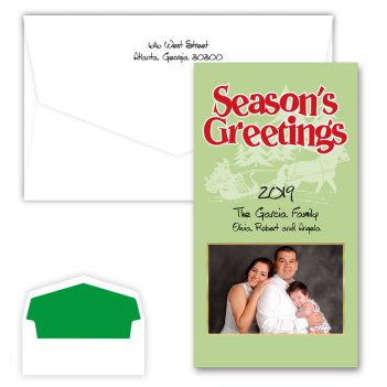 Seasons Greetings Sleigh Photo Card