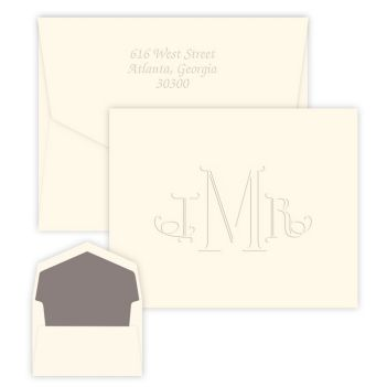 Wheaton Monogram Note - Embossed