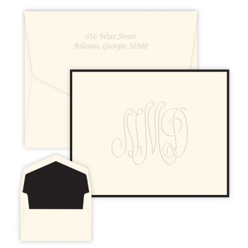 Henley Traditional Monogram Note - Embossed
