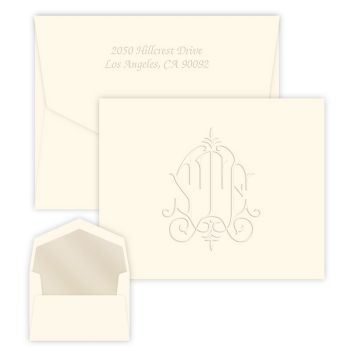 Whitlock Monogram Note - Embossed