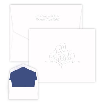 Paris Monogram Note - Embossed