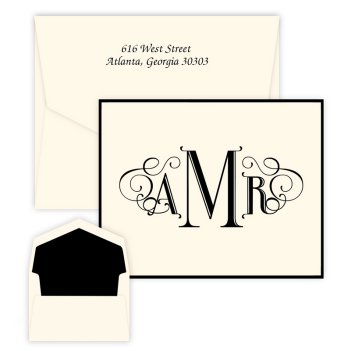 Uptown Monogram Note - Raised Ink