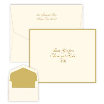 Gold Silhouette Note - Raised Ink