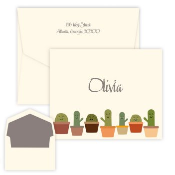 Cactus Family Folding Note - Digital Print