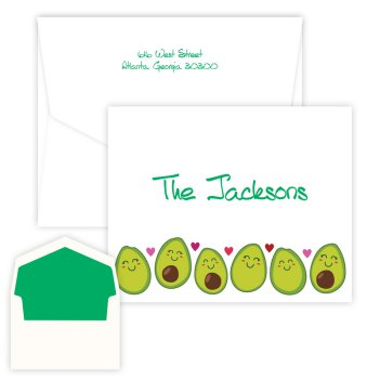 Avocado Family Folding Note - Digital Print