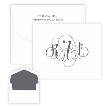 Firenze Monogram Note - Raised Ink