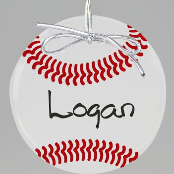 Baseball Keepsake Printed Ornament