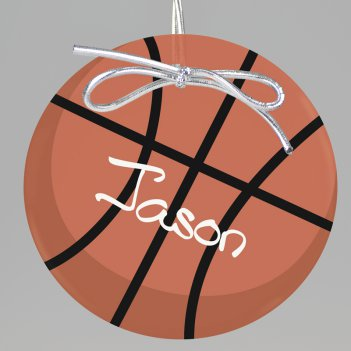Basketball Keepsake Printed Ornament