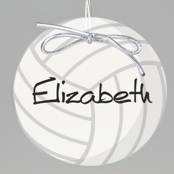 Volleyball Keepsake Printed Ornament