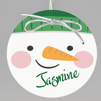 Frosty Keepsake Printed Ornament