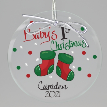 1st Christmas Printed Ornament